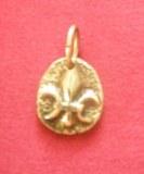 Mini médaillon Fleur de Lys bronze
