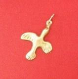 Pendentif médaillon Colombe découpée bronze