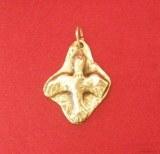 Pendentif médaillon Colombe sur plaque bronze