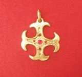 Pendentif médaillon Cathare bronze