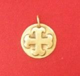 Pendentif médaillon Cathare rond bronze
