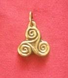 Mini médaillon Triskel bronze