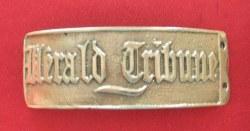 Boucle de ceinture Herald Tribune bronze