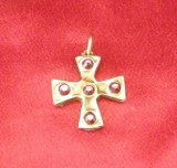 Pendentif Croix médiévale petit modèle bronze