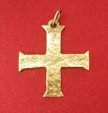 Pendentif Croix Templière plate bronze