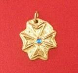 Pendentif Croix Hospitalière plaque bronze