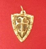Pendentif Bouclier St Jean bronze