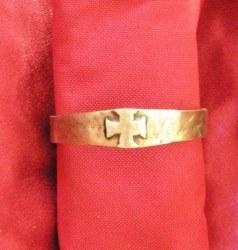 Bracelet Croix Templière bronze