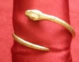 Bracelet Serpent rond petit modèle bronze