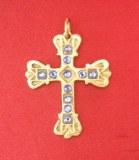 Pendentif Croix Venitienne bronze