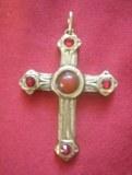 Pendentif Croix Cistercienne bronze