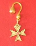 Porte-clés Croix Templière bronze