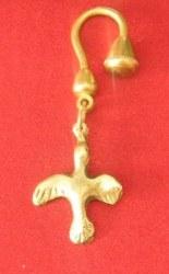 Porte-clés Colombe découpée bronze
