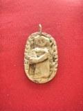 Pendentif Vierge Templière bronze