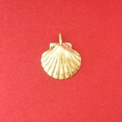 Pendentif médaillon Coquille petit modèle bronze