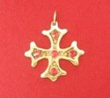 Pendentif Croix Occitane Bronze