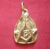 Pendentif médaillon Franc-maçon bronze