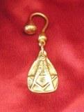 Porte-clés Franc-maçon bronze