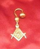 Porte-clés Franc-maçon découpé bronze