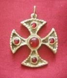 "Pendentif Croix ""Santa Maria"" bronze"