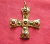 Pendentif Croix médiévale bronze