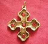 "Pendentif Croix ""St Louis"" bronze"