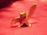 Chouette aile déployée bronze
