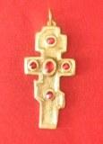 Pendentif Croix Orthodoxe petit modèle bronze